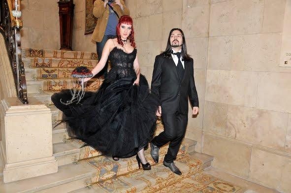 boda gotica, boda temática, boda original, boda tétrica, boda en negro