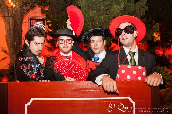 photocall boda flamenca